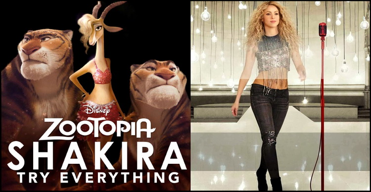 "Shakira estrena ""Try Everything"" para la nueva película de Disney"