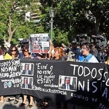 Mayor presencia oficialista en marcha por Nisman