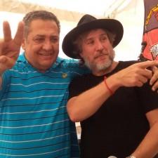 Boudou visitó el campamento de la Tupac Amarú en Plaza de Mayo