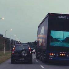 El camión de Samsung que quiere evitar accidentes