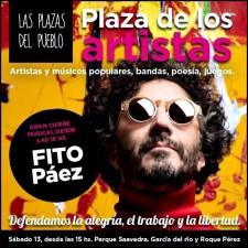 """Fito Páez sera el artista principal del Festival Kirchnerista """"Plaza de los Artistas"""""""