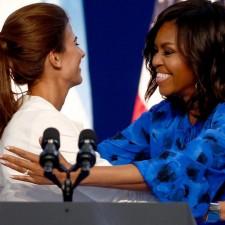 Michelle Obama con Juliana Awada en una charla de mujeres