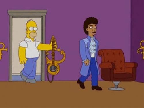 El capitulo no emitido de los Simpson sobre Prince