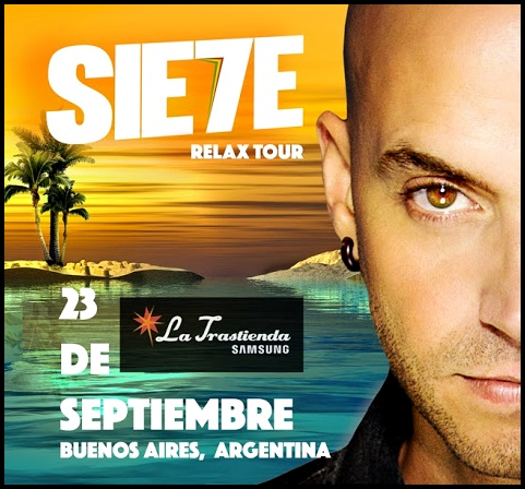"""SIE7E vuelve a la Argentina con su """"Relax Tour"""""""
