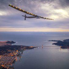 Avión de energía solar llegó a Nueva York