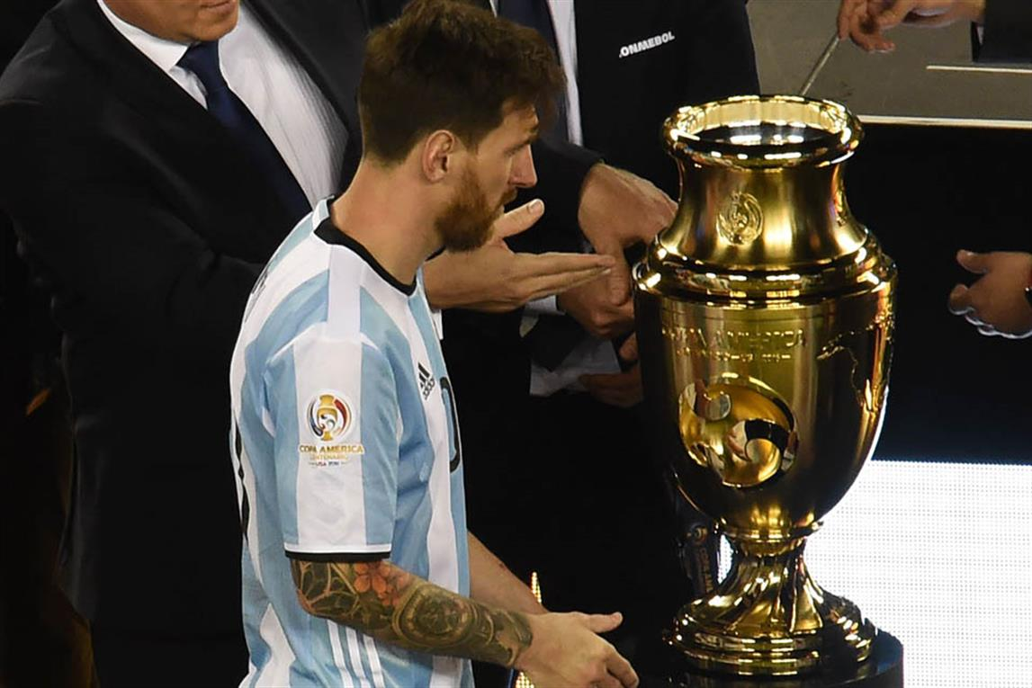 Messi anunció su retiro tras la derrota