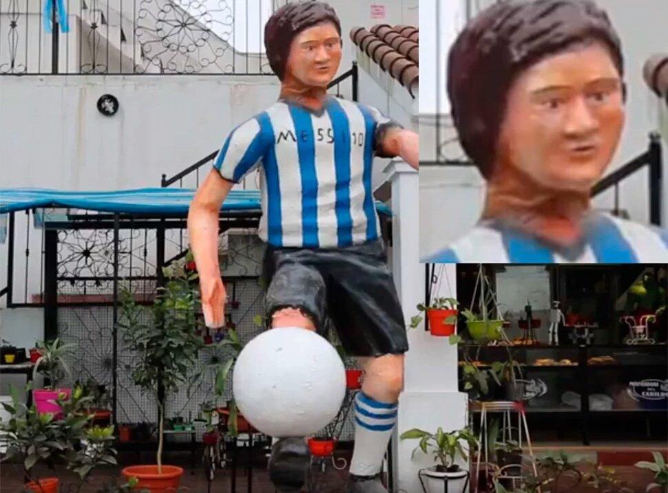 La estatua de Messi en Famaillá que se viralizó con memes