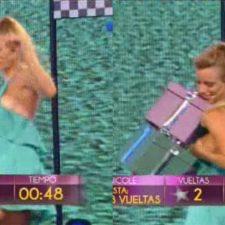 Video: a Nicole Neumann se le escapó una lola en el programa de Susana