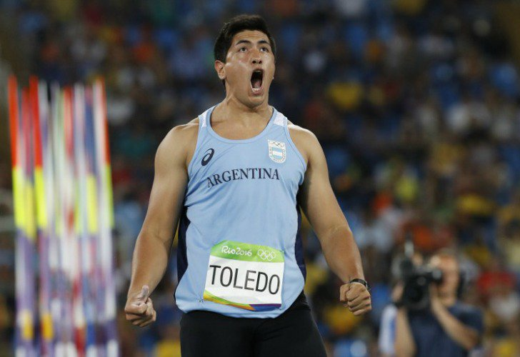 Braian Toledo clasificó a la final de Jabalina