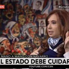 CFK en C5N a la medida de Navarro