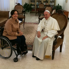 Gabriela Michetti visitó al Papa Francisco