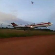 Se estrelló un avión en Colombia y fue filmado por varios testigos