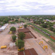 Empezaron las obras de renovación de vías del ferrocarril de cargas