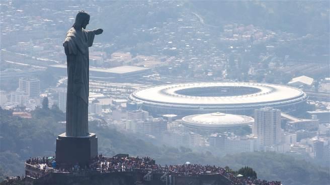 El Estadio Maracaná desde una vista emblemática de Río