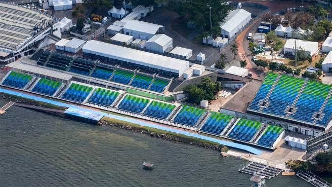Laguna Rodrigo de Freitas, sede del canotaje olímpico