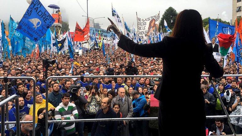 Cinco frases de CFK en su vuelta a la escena pública