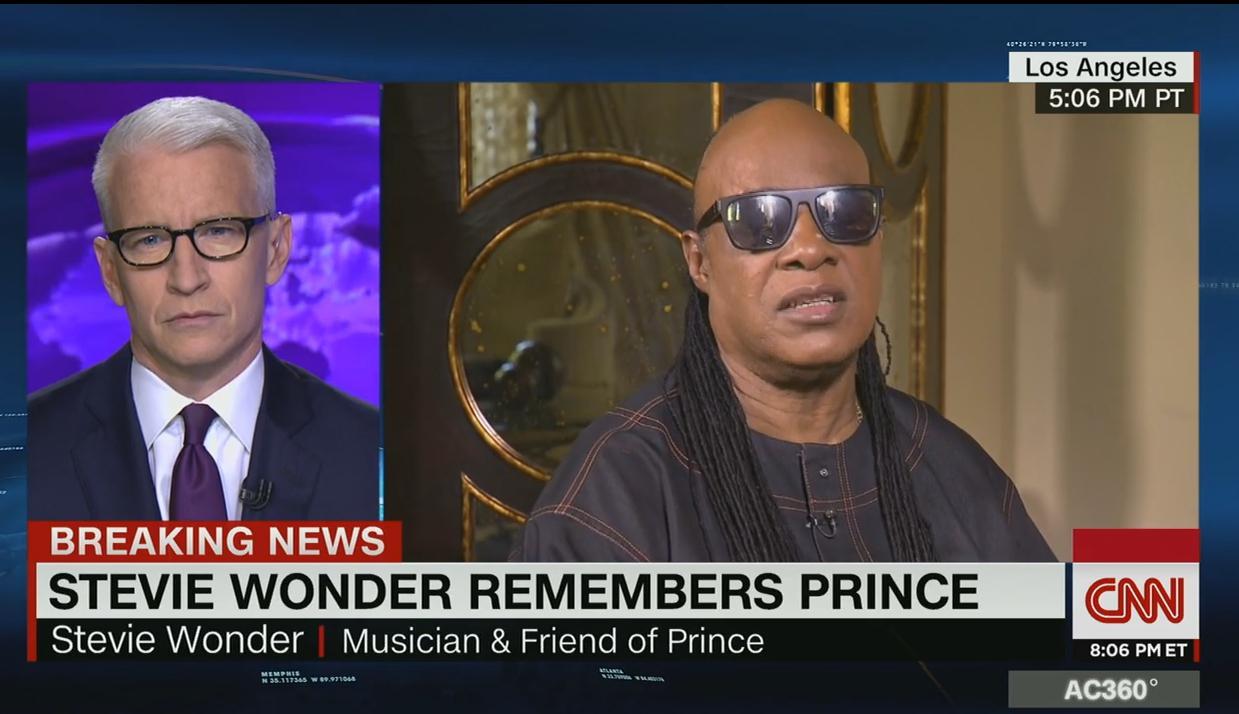 Emocionante entrevista a Stevie Wonder y homenaje a Prince