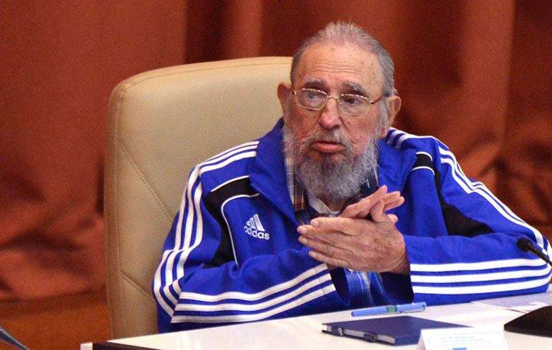 """El líder de la Revolución Cubana brindó un discurso a cuatro meses de cumplir 90 años. """"Tal vez sea de las últimas veces que hable en esta sala"""