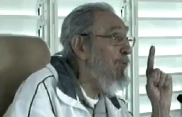 Fidel Castro reapareció en un acto público