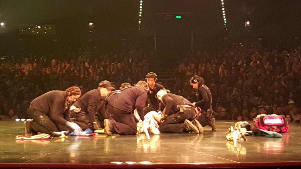 Accidente en el Cirque Du Soleil