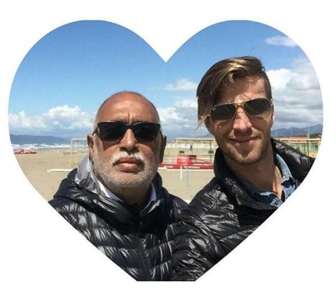Oscar González Oro presentó a su novio en Instagram