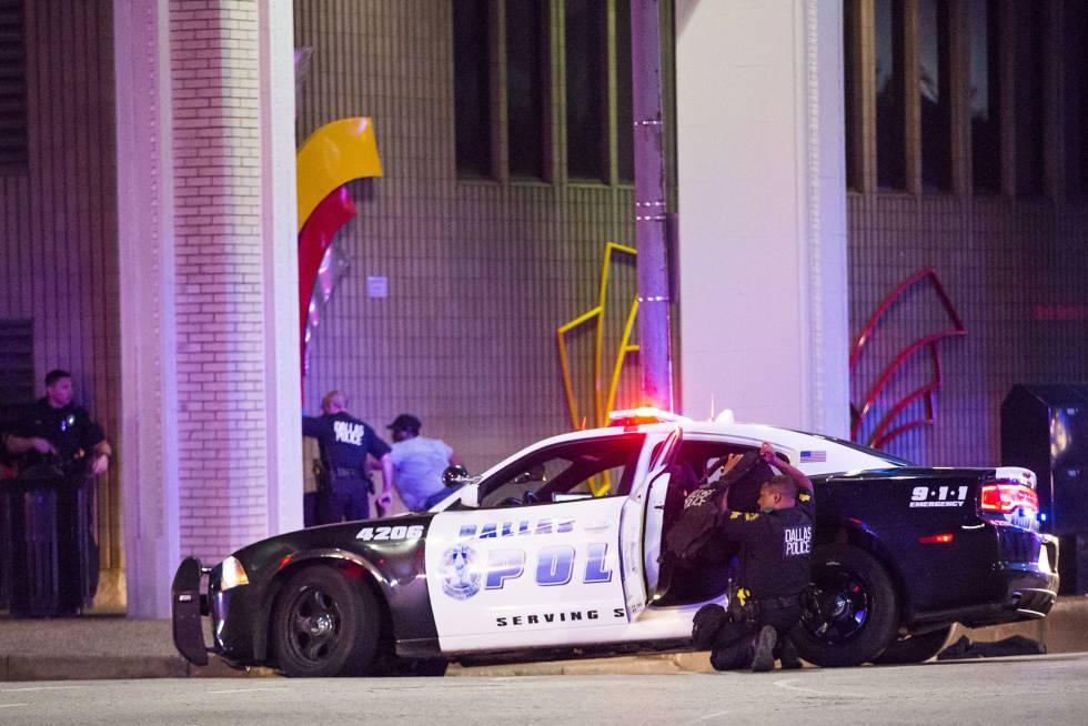 Cuatro policías muertos tras tiroteo en Dallas Impactantes videos
