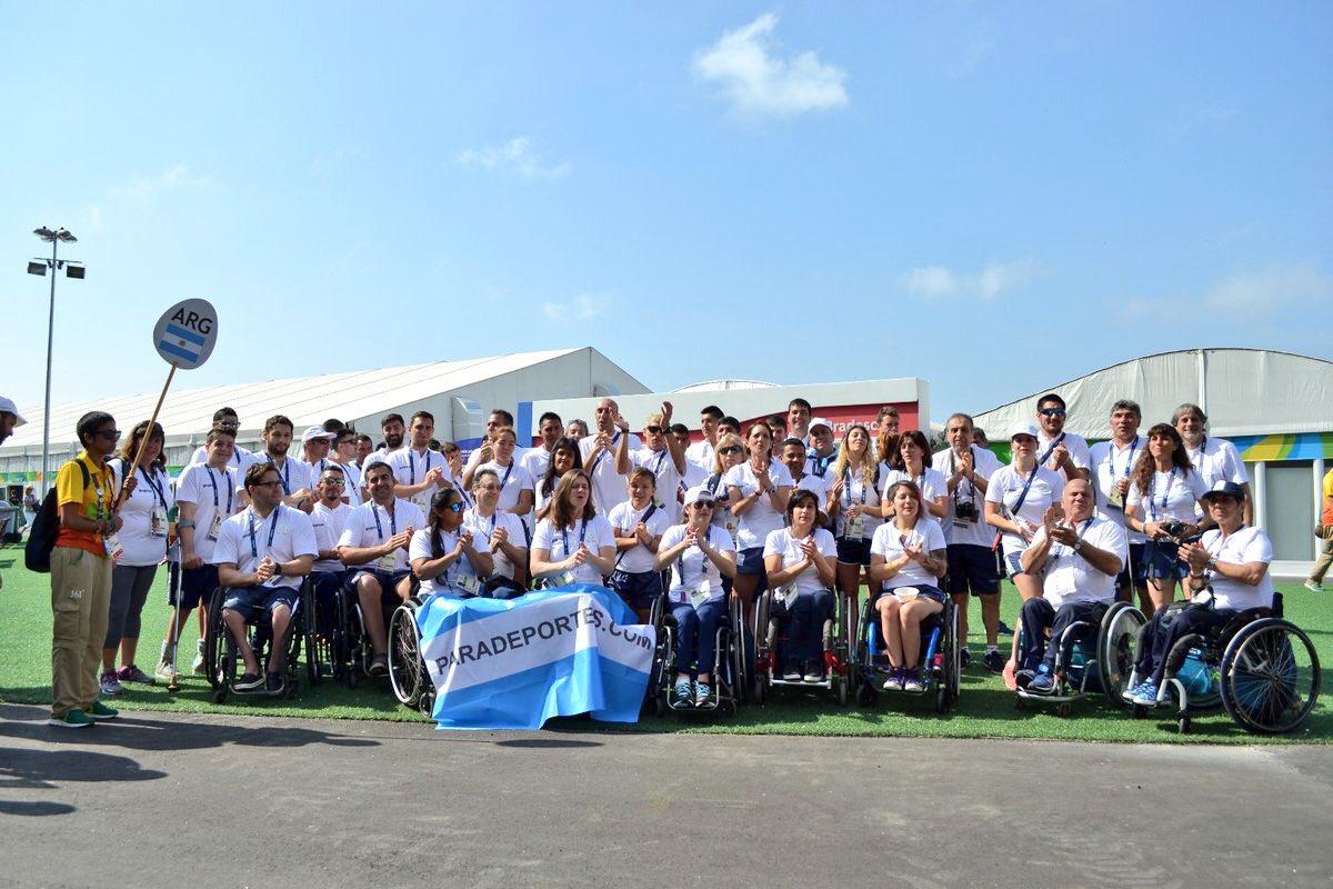 La delegación argentina de los Juegos Paralímpicos