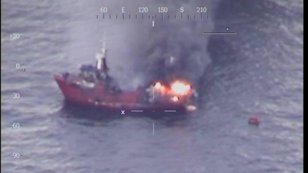 Otro incendio en el mar