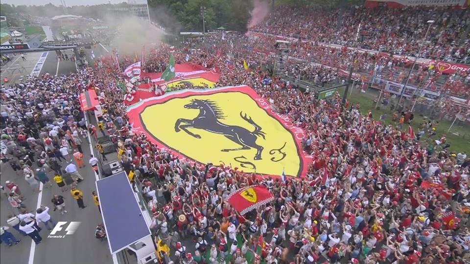 Los Tifosi colmaron Monza y volvieron a ser protagonistas en el podio.