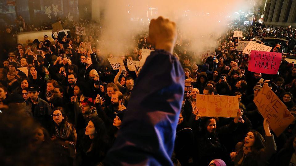 Manifestaciones en Nueva York contra Donald Trump